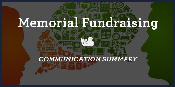 memorial-fundraising-Communication-Summary